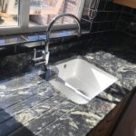 Titanium Granite worktops with undermount sink
