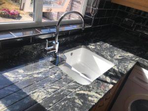 Titanium Granite worktops with undermount sink
